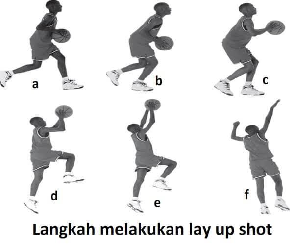 Langkah langkah melakukan lay up shoot